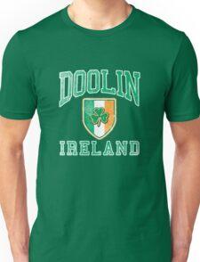 Doolin, Ireland with Shamrock Unisex T-Shirt