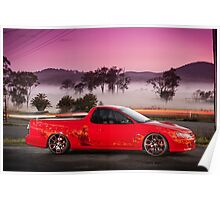 Kim Smith's VY Holden Commodore Ute 'Wildfire' Poster