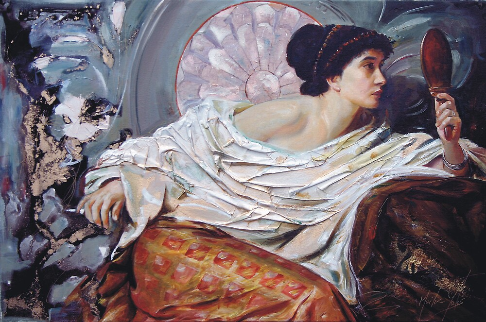 The Mirror (after Frank Dicksee) by Melissa Mailer-Yates