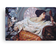 The Mirror (after Frank Dicksee) Canvas Print