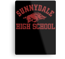 Sunnydale High Razorbacks Metal Print