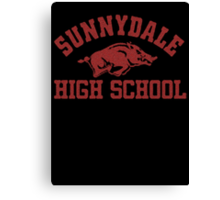 Sunnydale High Razorbacks Canvas Print