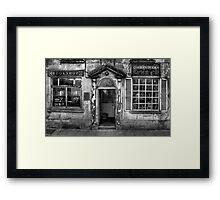 Corrans Bookshop - Laugharne Framed Print