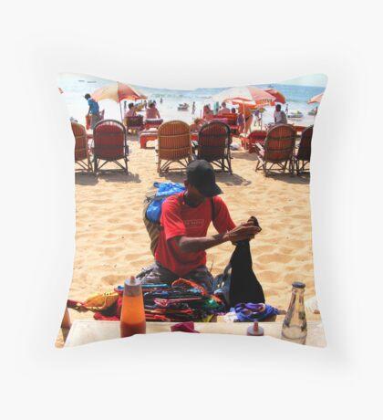 Beach Vendor Throw Pillow
