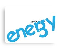 Energy Logotype Canvas Print