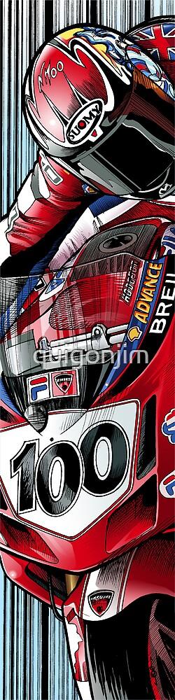 Neil Hodgson - Fila Ducati by quigonjim