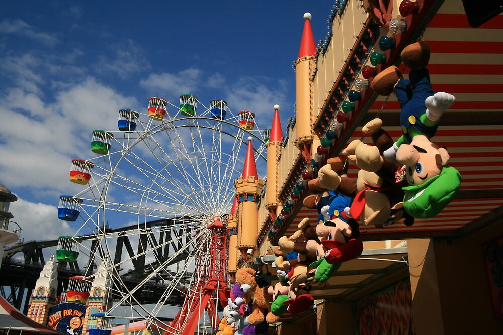 Colours of Luna Park, Sydney by Leigh Penfold
