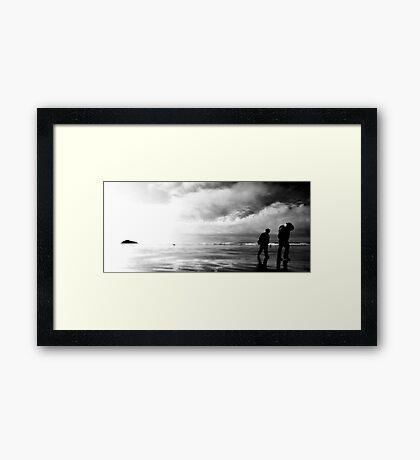 Worlds Collide Framed Print