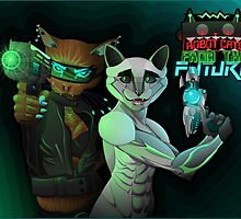 Robot Cats from the FUTURE by GaGaAteMyBrain