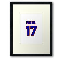 National baseball player Raul Casanova jersey 17 Framed Print