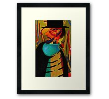 Red face Framed Print