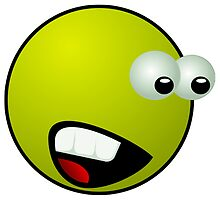 Shocked Green Smiley Face by NetoboDesigns