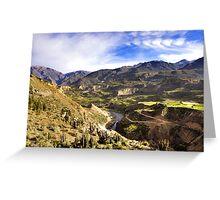Colca Canyon Greeting Card