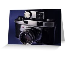 Vintage 1950's 35mm Film Camera Greeting Card