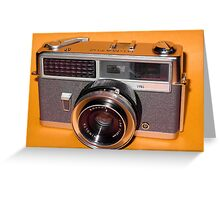 Vintage Camera 1960s  Greeting Card