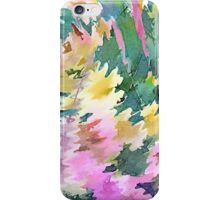 Welcome Spring Abstract Floral Digital Watercolor Painting 4 iPhone Case/Skin