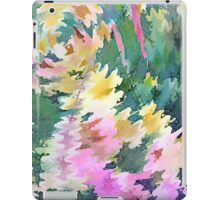 Welcome Spring Abstract Floral Digital Watercolor Painting 4 iPad Case/Skin