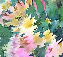 Welcome Spring Abstract Floral Digital Watercolor Painting 4 by Beverly Claire Kaiya