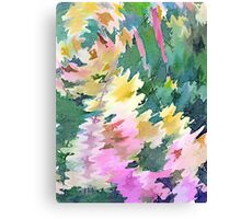 Welcome Spring Abstract Floral Digital Watercolor Painting 4 Canvas Print