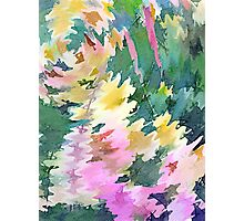 Welcome Spring Abstract Floral Digital Watercolor Painting 4 Photographic Print