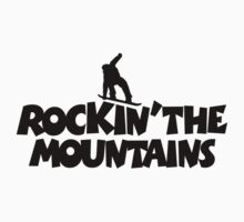 Rockin the mountains - snowboard Kids Clothes