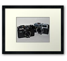 Silver and Black Framed Print