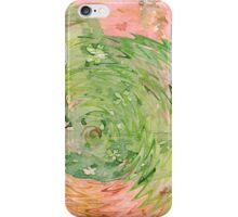 Welcome Spring Abstract Floral Digital Watercolor Painting 1 iPhone Case/Skin