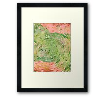 Welcome Spring Abstract Floral Digital Watercolor Painting 1 Framed Print