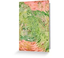 Welcome Spring Abstract Floral Digital Watercolor Painting 1 Greeting Card