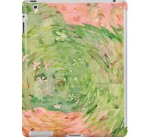 Welcome Spring Abstract Floral Digital Watercolor Painting 1 iPad Case/Skin