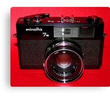 Black Rangefinder Camera Canvas Print