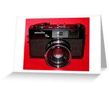 Black Rangefinder Camera Greeting Card