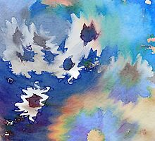 Welcome Spring Abstract Floral Digital Watercolor Painting 2 by Beverly Claire Kaiya