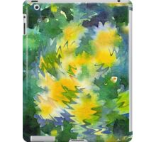 Welcome Spring Abstract Floral Digital Watercolor Painting 3 iPad Case/Skin