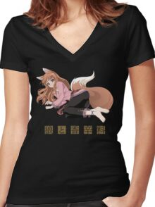 Spice and Wolf Women's Fitted V-Neck T-Shirt