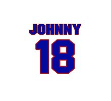 NBBL2425 National baseball player Johnny Blanchard jersey 18 Photographic Print