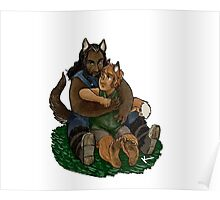 Fox and Wolf Poster