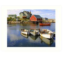 Boats on Peggy's Cove, Nova Scotia Art Print