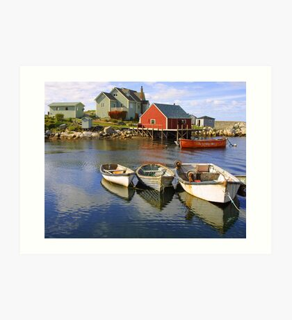 Boats on Peggy's Cove, Nova Scotia Art Print