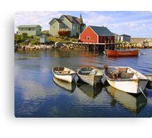 Boats on Peggy's Cove, Nova Scotia Canvas Print