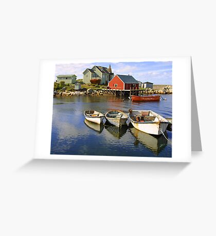 Boats on Peggy's Cove, Nova Scotia Greeting Card