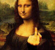 Mona Lisa - Gives the Finger by divografix