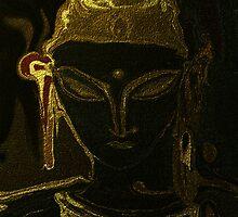 Portrait Of Vajrasattva 1 by Rabi Khan
