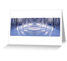 Winter Landscape Mirror Greeting Card