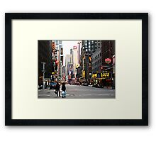 Time Square, almost empty Framed Print