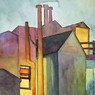 Rear Window Watercolor by Zehda