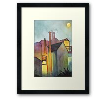 Rear Window Watercolor Framed Print