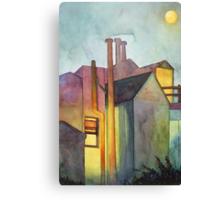 Rear Window Watercolor Canvas Print