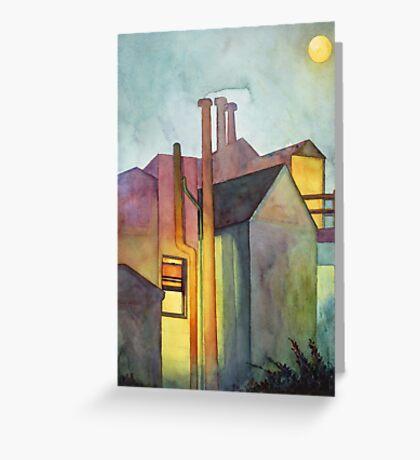 Rear Window Watercolor Greeting Card