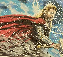 Thor, The avengers by la5me